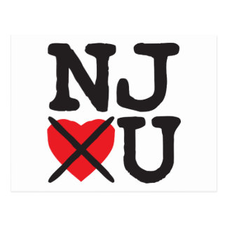 New Jersey Hates You Postcard