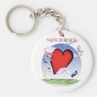 new jersey head heart, tony fernandes basic round button key ring