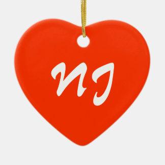 New Jersey Heart Ornament