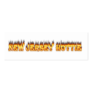 New Jersey hottie fire and flames Pack Of Skinny Business Cards