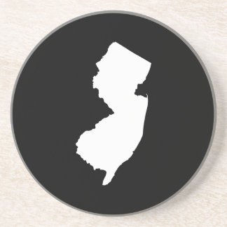 New Jersey in White and Black Coaster