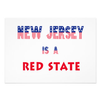 New Jersey is a Red State Custom Announcement