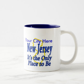 New Jersey  It's the Only Place to Be Two-Tone Mug