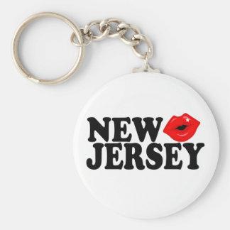 New Jersey Kiss Key Chain