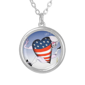 new jersey loud and proud, tony fernandes silver plated necklace