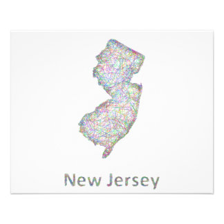 New Jersey map 11.5 Cm X 14 Cm Flyer