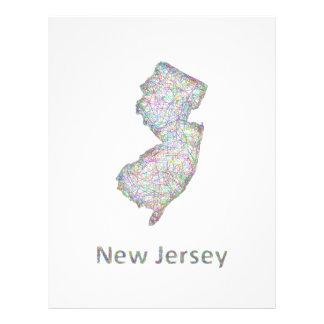 New Jersey map 21.5 Cm X 28 Cm Flyer