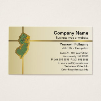 Jersey business cards business card printing zazzle uk new jersey map business card reheart Image collections