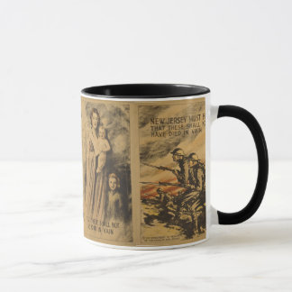 """New Jersey Must Fight on..."" WW I Mug"