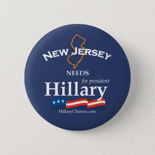 New Jersey Needs Hillary Button