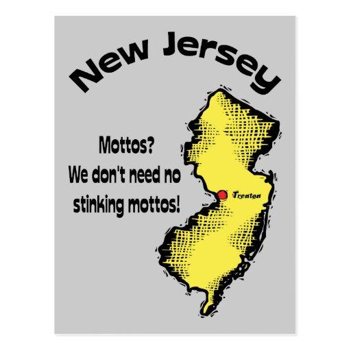 New Jersey NJ ~ Mottos, We don't need no stinking Postcard