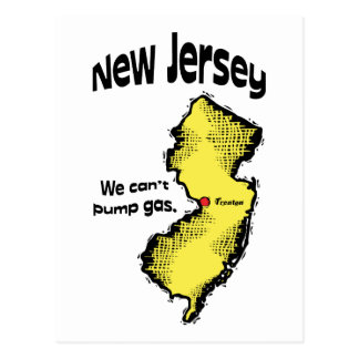 New Jersey NJ US Motto ~ We Can't Pump Gas Postcard