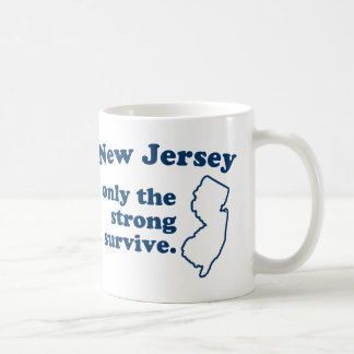 New Jersey Only The Strong Survive Basic White Mug