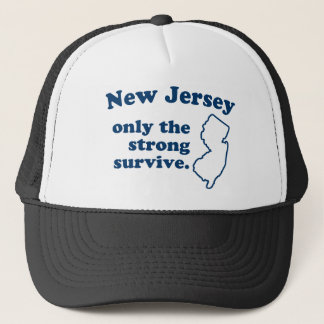 New Jersey Only The Strong Survive Trucker Hat