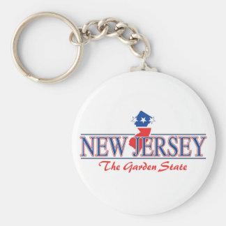 New Jersey Patriotic Keychain