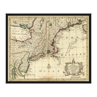 New Jersey Pennsylvania New York New England 1752 Canvas Print