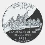 New Jersey Quarter Round Stickers