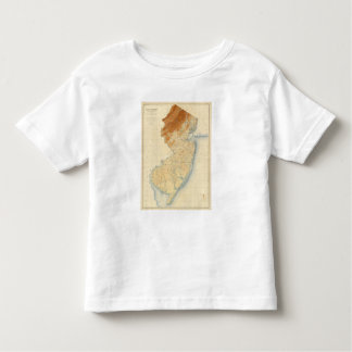 New Jersey Relief Map Toddler T-Shirt