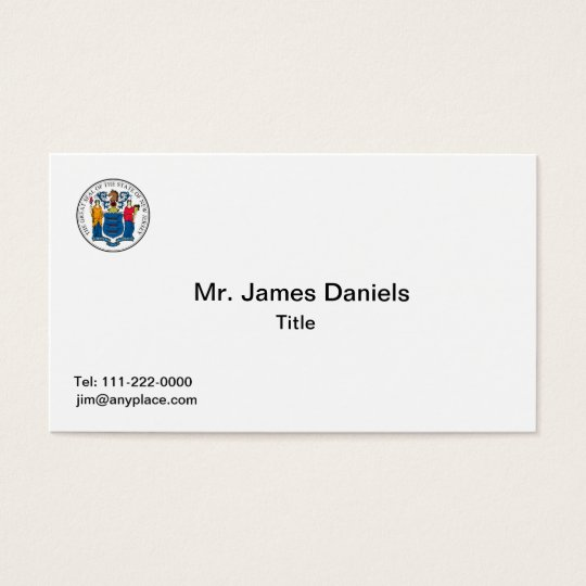 New Jersey Seal Business Card