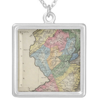 New Jersey Silver Plated Necklace