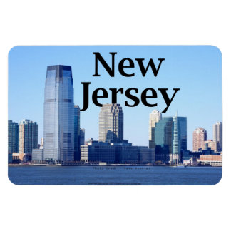 New Jersey Skyline with New Jersey in the Sky. Rectangular Photo Magnet