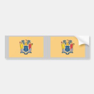 New Jersey State Flag Bumper Sticker