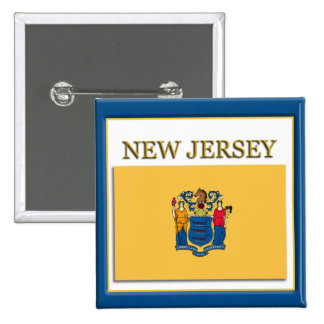 New Jersey State Flag Design Button