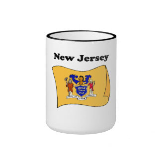New Jersey State Flag Coffee Mugs