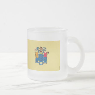 New Jersey State Flag Frosted Glass Mug