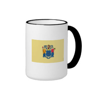 New Jersey State Flag Ringer Coffee Mug
