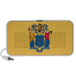 New Jersey State Flag Notebook Speakers