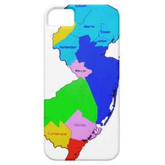 New Jersey State Map Colorful iPhone 5 Case