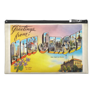 New Jersey State NJ Old Vintage Travel Postcard- Travel Accessory Bags