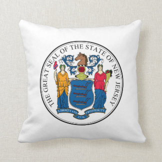 New Jersey state seal america republic symbol flag Cushion