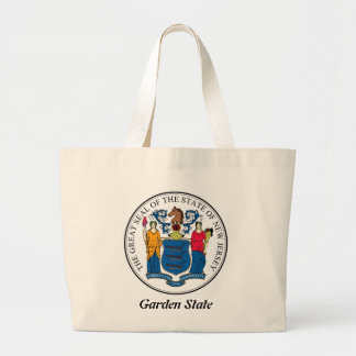 New Jersey State Seal and Motto Large Tote Bag