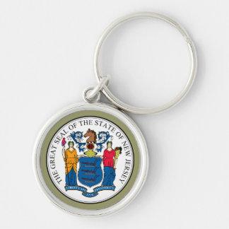 New Jersey State Seal Premium Keychain