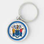 New Jersey State Seal Premium Keychain (Blue)