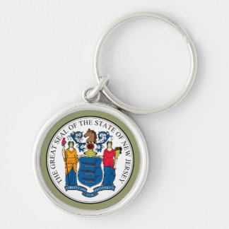 New Jersey State Seal Premium Keychain