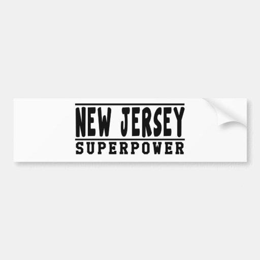 New Jersey Superpower Designs Bumper Sticker