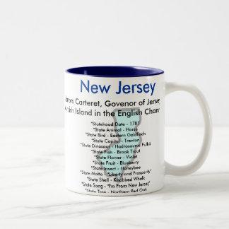 New Jersey Symbols & Map Two-Tone Mug