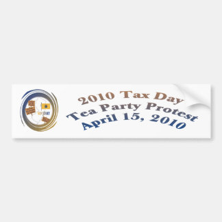 New Jersey Tax Day Tea Party Protest Bumper Sticker