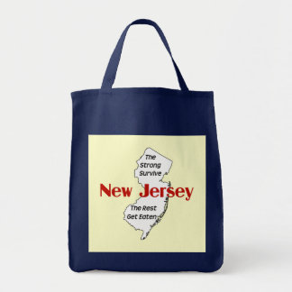 New Jersey: the strong survive; the rest get eaten Grocery Tote Bag