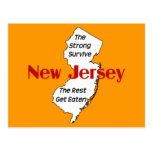 New Jersey: the strong survive; the rest get eaten Postcard