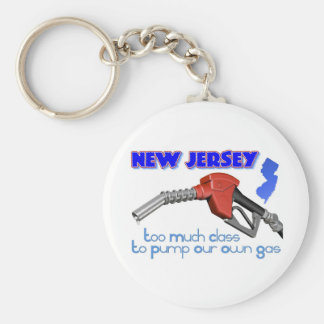 New Jersey: Too Much Class to Pump Our Own Gas Basic Round Button Key Ring