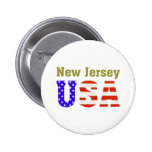 New Jersey USA! 6 Cm Round Badge