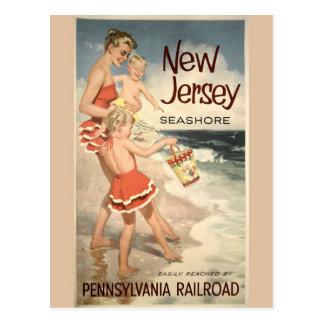 New Jersey Vintage Travel Poster Postcard