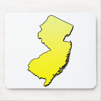 New Jersey Yellow Outline Mouse Pad
