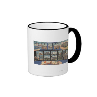 New JerseyLarge Letter ScenesNew Jersey Ringer Coffee Mug
