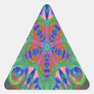 New kaleidoscope design image triangle sticker