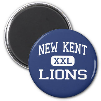 New Kent Lions Middle New Kent Virginia 6 Cm Round Magnet